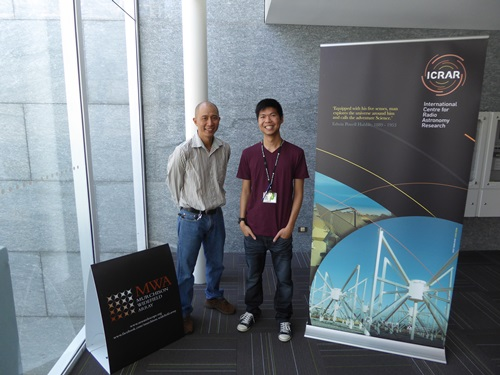 2016 FEKO student competition winner Masters student Daniel Ung with his advisor Dr. Adrian Sutinjo